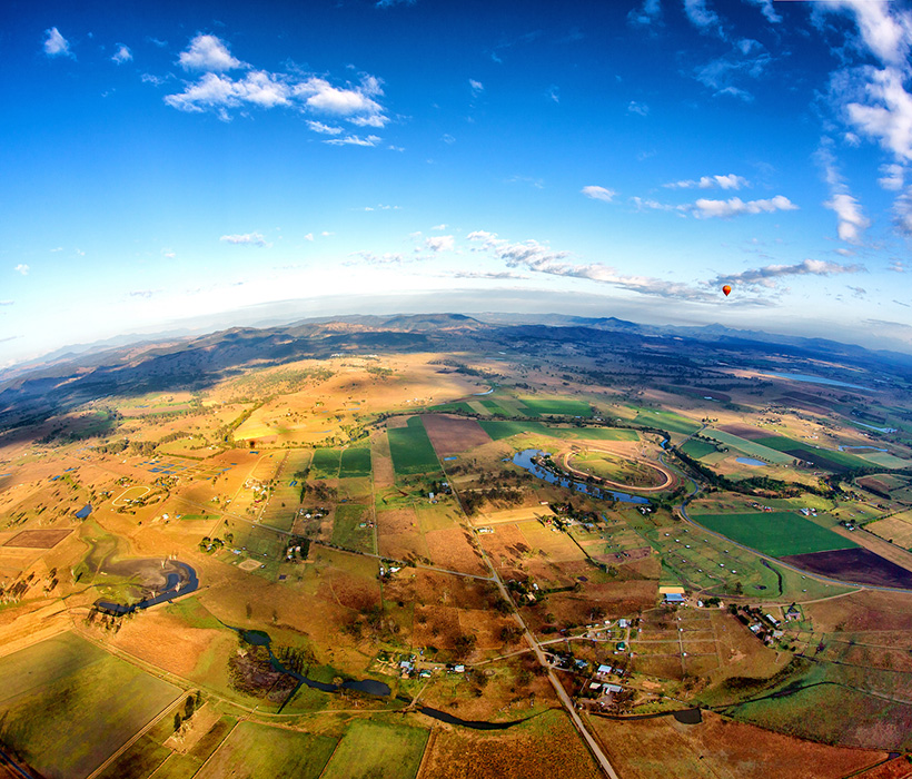 Aerial view of Gold Coast Hinterland