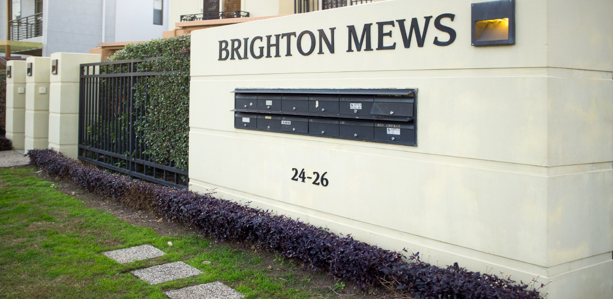 Brighton Mews sign