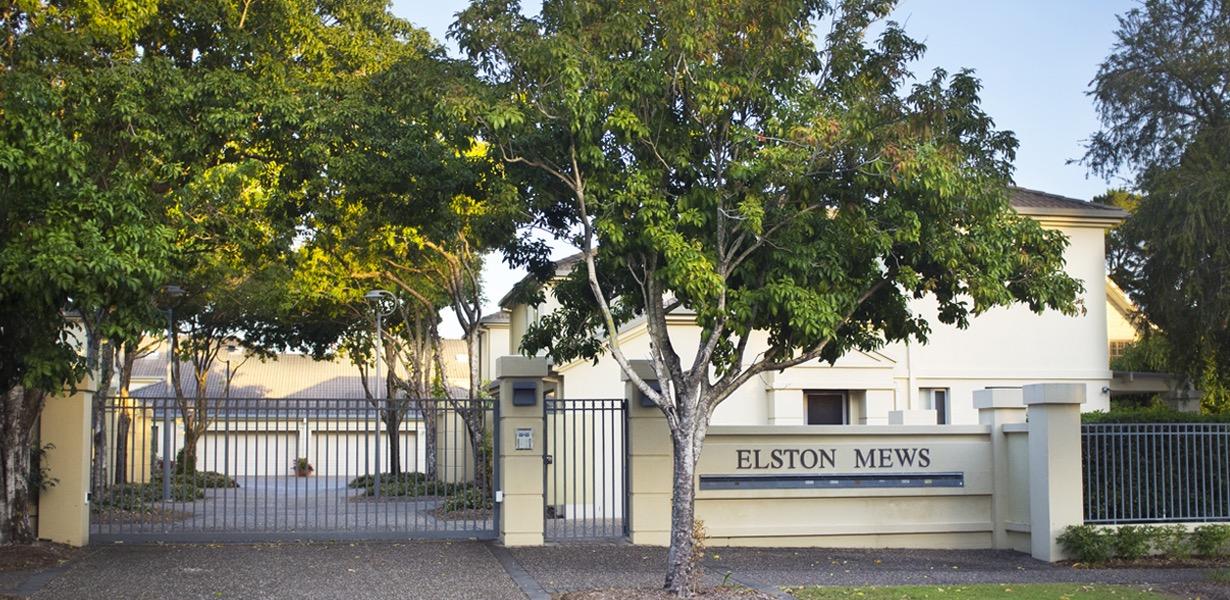 Elston Mews Estate front gate