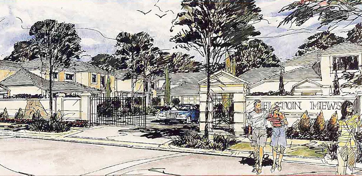 Elston Mews Estate concept art