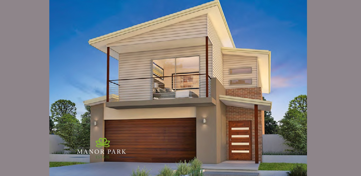 Two story house impression (Concept image)